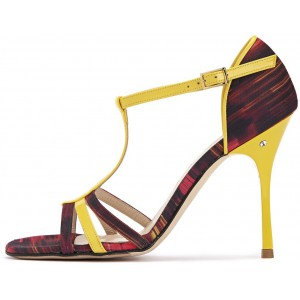 AIDA - Tessuto / Vernice Fantasia strisce nero/giallo/rosso