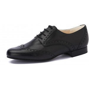 DERBY OXFORD - Nappa nero