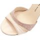 LESLIE Glitter/capretto spazzolato rosa