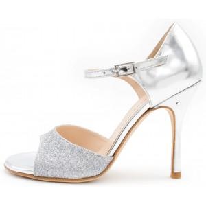 DAISY - glitter/specchio argento