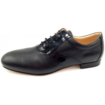 FRANCESINA - black patent leather / tassel