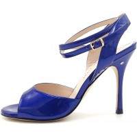 CHANTAL DUS - blue patent leather