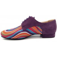 DERBY Multicolor fabric / violet nubuck