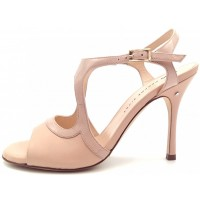 GIADA OPEN - neutral leather and patent leather