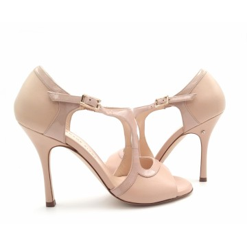 GIADA - neutral leather and patent leather