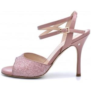 CHERIE Glitter rosa antico